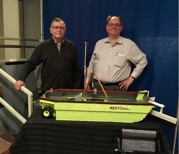 Shallow Water Skimmer model with Bill and Darryl